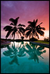 Poolside Sunset (konaboy) Tags: sunset pool silhouette hawaii interestingness filter bigisland kona coconutpalm gnd 3stophard 8746b