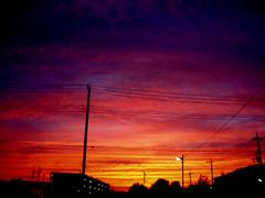Dopo il tramonto (Aube insanité) Tags: sunset red sky cloud rouge zonsondergang tramonto afternoon ciel cielo nuage soir rood rosso 空 nube hemel sera wolk 夕焼け 赤 cousherdusoleil