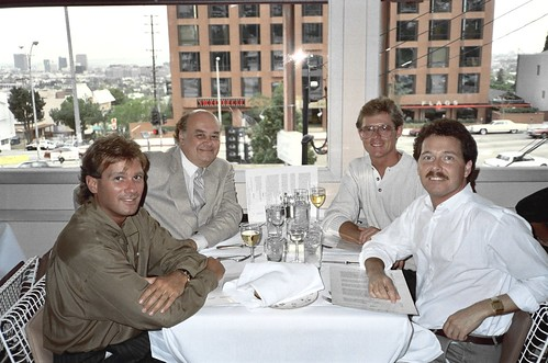 The original Spago on Sunset Blvd, 1988 - Todd Morrow, Shel Dorf, Alan Light, Rick Best