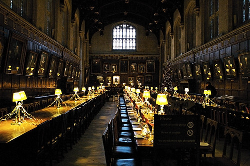 Dinning Hall in Harry Porter the movie