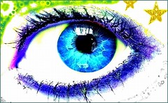 blue - christmas decorated - eye