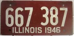 IL Illinois - 1946 (MR38) Tags: illinois licenseplate 667 1946 387
