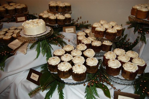 Reader and baker Lori Malloy sent us this photo of wedding cupcakes she made