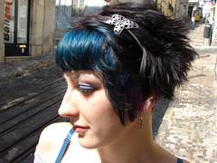 hair color blue (wip-hairport) Tags: street blue haircut black girl fashion hair cool lisboa lisbon gothic hairport