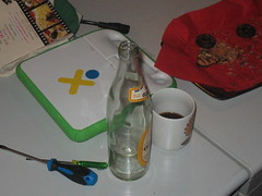 Still life with Club-Mate and XO