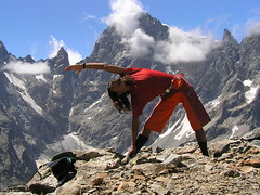 Yoga, National Park Ecrins, France. (Eric Lon) Tags: travel snow ice rock yoga nationalpark coach amazing healthy holidays skiing gorgeous glacier climbing massage mountaineering summit bouldering meditation guide peaks lessons ecrins courses frenchalps crevasses ailefroide tretching southernmountains