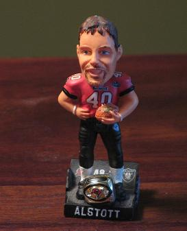 Mike Alstott mini-bobblehead
