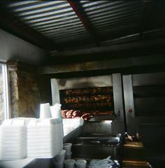 (Magalie L'Abb) Tags: chicken film square mexico toy restaurant holga lomo toycamera bbq ribs bajacaliforniasur cabosanlucas loscabos elpollodeoro