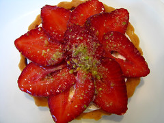 Strawberry Tart (Kirti Poddar) Tags: india cake restaurant indian desserts sweets mumbai confectionery jalebi