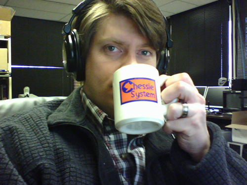 Mark keeps it real with a Chessie System mug