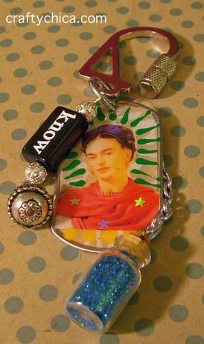 Frida Charm Keyring