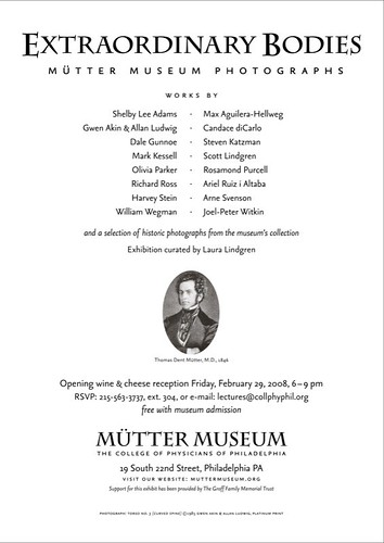 Text from Mutter Museum Opening Invitation
