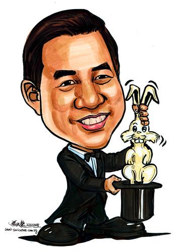 Caricature Magician A4