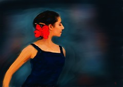 The Flamenco Dancer (Pat McDonald) Tags: beautiful scotland dance spain dancers britishisles danse andalucia spanish bale flamenco dans elegance bailar balet gitana bailaora espana
