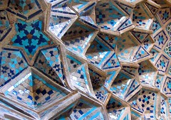 Tiles and forms (Alieh) Tags: blue architecture persian iran geometry persia mosque tiles iranian  esfahan isfahan    jamemosque   aliehs alieh         3  isfahanday