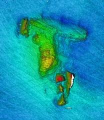 Multibeam sonar image - Devon Coast