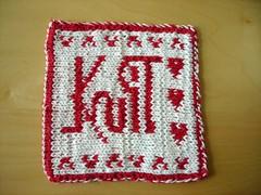DK hot pad Knit side