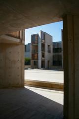Kahn!!!! (Essem.W) Tags: architecture canon concrete kahn pacificocean salk louiskahn teak xti