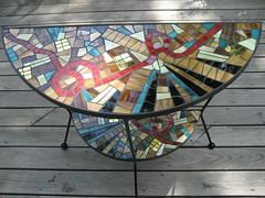 half moon Credenza (Moe's Ache) Tags: table mosaic ache moes cappi moesache