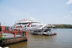 floating casino of goa (pallav moitra) Tags: beach fort goa panjim baghator