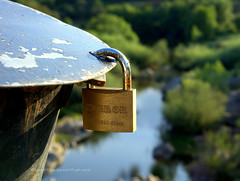 Safe (luisa_m_c_m_cruz) Tags: bridge portugal water river little alentejo cadeado