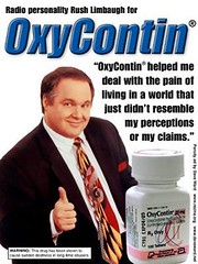 Radio personality Rush Limbaugh for Oxycontin (stevesobczuk) Tags: ad rush limbaugh oxycontin