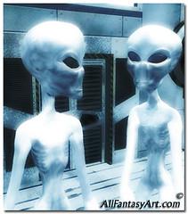 scrawny alien