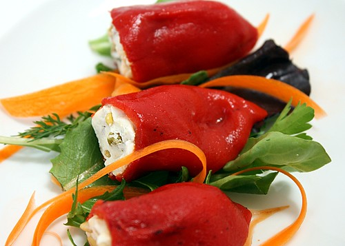 piquillo peppers, goat cheese, stuffed piquillo peppers