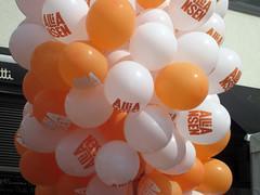 Alliansballonger omvalskampanj Göteborg by Folkpartiet_Liberalerna, on Flickr