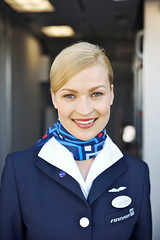 Finnair stewardess (myfreeco) Tags: finnair stewardess flightattendant