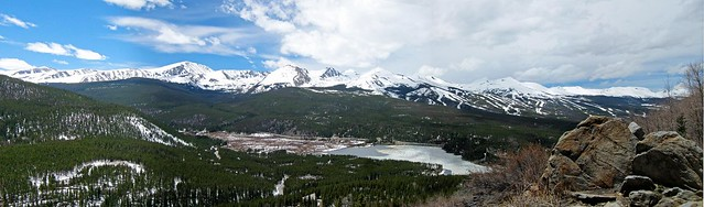 Panorama of the Ten Mile Range from Boreas Pass