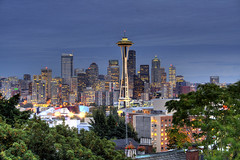 Seattle Skyline (kjellarsen) Tags: seattle queenanne kerrypark hdr 3xp photomatix a3b photoexplore