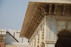 Agra Fort (Brajeshwar) Tags: india building agra historical marble ornate trim monuments redfort fortrouge agrafort lalqila