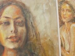 Sisters (sardiniaman) Tags: portrait sisters painting donna colore sister quadro lovely ritratto cagliari ragazza cornice domenica mattina tela verynice figura modelle sorelle modella tratti lineamenti
