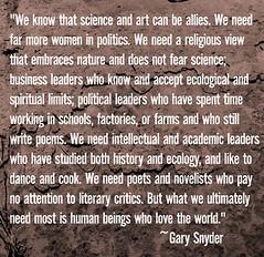 Gary Snyder/Imagen de Kerismith.com
