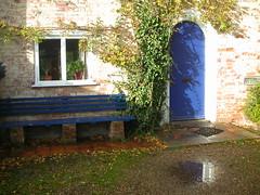 Padmaloka courtyard door