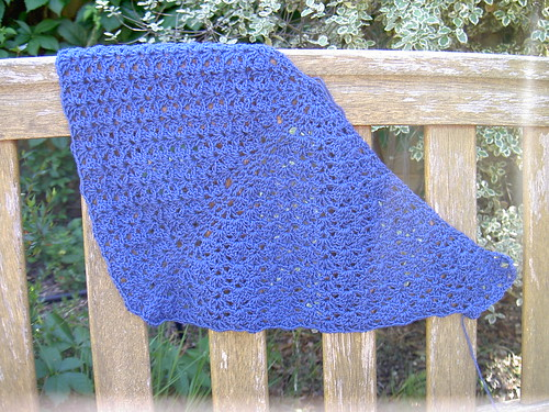 Radiant shawl - day 2