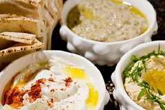 Homus Bi Tahine, Babaganoush e Coalhada Seca