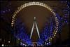 The London Eye (Sartori Simone) Tags: uk greatbritain blue trees england london yellow geotagged gold lights europa europe londoneye southbank londres gb londra granbretagna inghilterra ©allrightsreserved simonesartori prospettivaformica diamondclassphotographer