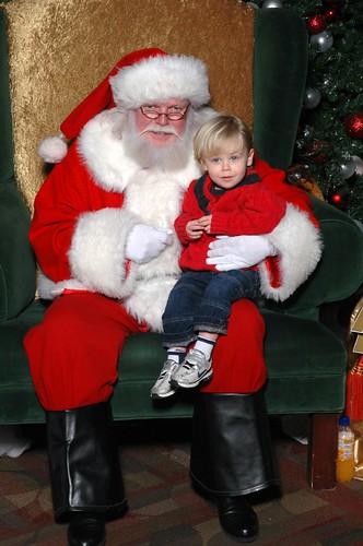 Joshua and Santa 2007