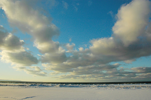 Snowy Canada - kitesurfing anyone?