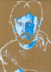 self-portrait #12 guache on cardboard 8