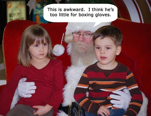 Santa speaking