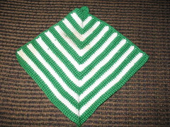 green & white diamond potholder