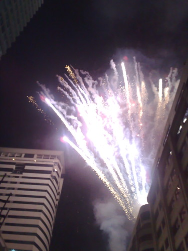 MidZone Countdown 2008 fireworks.