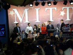 The Romney Family addresses supporters