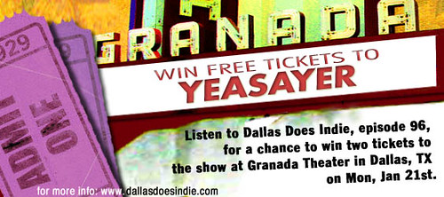 Yeasayer Giveaway