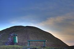 Krakus Mound in blue (bartek miskiewicz) Tags: city sky urban industry architecture digital canon bench eos 350d rebel xt landscapes poland krakow canon350d mould dslr cracow hdr canoneosdigitalrebelxt krakoff organizujswojczas krakusmound bartoszmiskiewicz