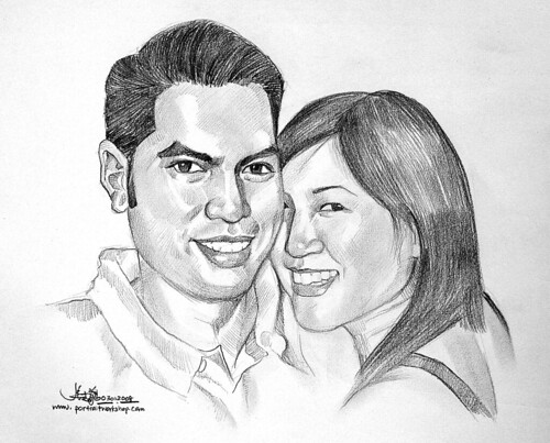 Couple portraits in pencil 030108