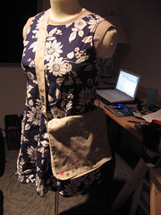 Messenger bag (on dressform)